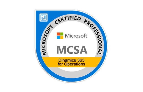 Microsoft Certified Solutions Associate Dynamics 365 for Operations Exams