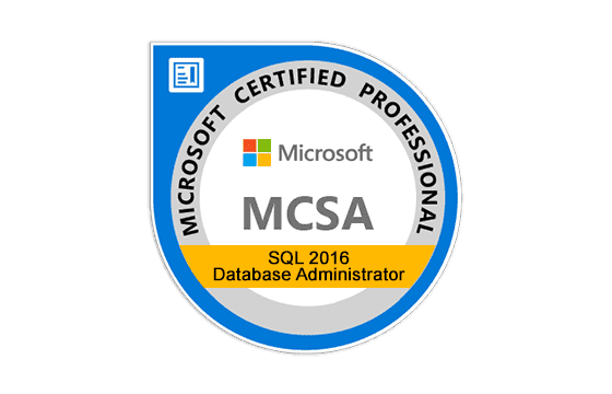 MCSA: SQL 2016 Database Administration Exams