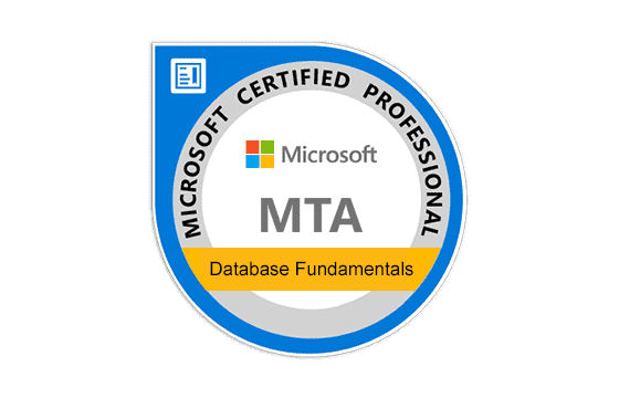 MTA: Database Fundamentals Exams